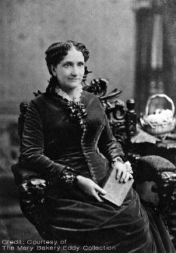 Mary Baker Eddy circa 1882-1883 around the time she moved from Lynn, Massachusetts to Boston.