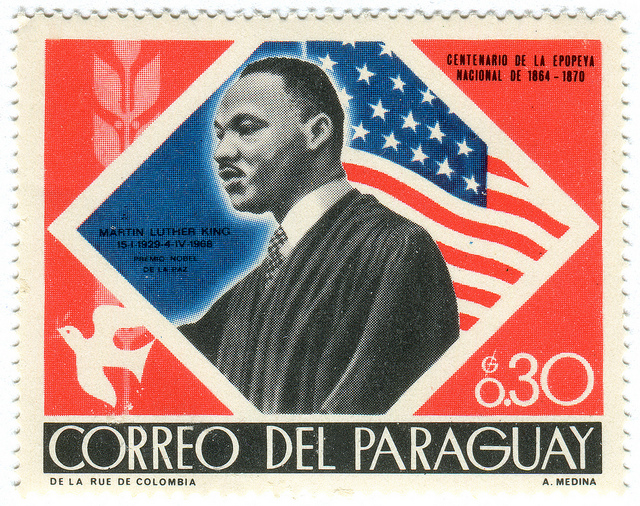 Paraguay postage stamp: Martin Luther King, Jr. by Karen Horton