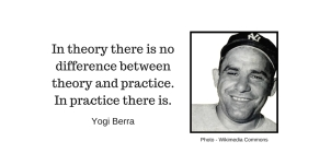 In theory there is no difference between theory and practice. In practice there is.-7